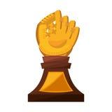 Baseball trophy championship isolated icon. Vector illustration design Stock Photo