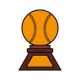 Baseball trophy championship isolated icon. Vector illustration design Stock Image