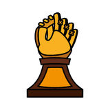 Baseball trophy championship isolated icon Royalty Free Stock Photography