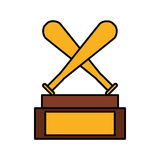 Baseball trophy championship isolated icon Stock Photo