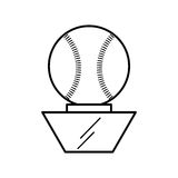 Baseball trophy championship isolated icon Royalty Free Stock Photo