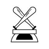 Baseball trophy championship isolated icon. Vector illustration design Royalty Free Stock Image