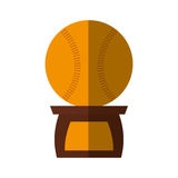 Baseball trophy championship isolated icon Stock Photography