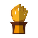 Baseball trophy championship isolated icon. Vector illustration design Royalty Free Stock Photo