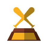 Baseball trophy championship isolated icon Royalty Free Stock Photos