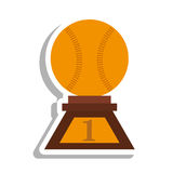 Baseball trophy championship isolated icon Stock Photos