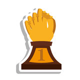 Baseball trophy championship isolated icon. Vector illustration design Stock Images