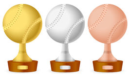 Baseball trophy set Stock Photography