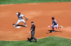 Baseball - turn two for the double play! Stock Photography