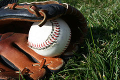 Baseball u. Handschuh Lizenzfreie Stockbilder