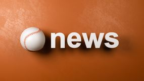 Baseball-und Nachrichten-Text gegen Wand lizenzfreie abbildung