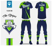 Baseball uniform, sport jersey, t-shirt sport, short, sock template. Baseball t-shirt mock up. Front and back view sport uniform. Baseball jersey, pants and vector illustration