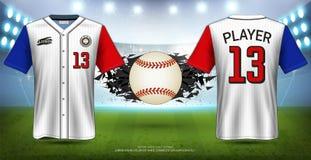 Baseball Uniforms & Jerseys, Short Sleeve Shirt Sport Mockup Template.