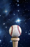 Baseball and the universe. Royalty Free Stock Image