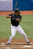 Baseball:  Up at bat. Chicago Cubs vs. Toronto Blue Jays: June 14, 2008. Chicago Cubs beat Blue Jays 6-2 Royalty Free Stock Photo