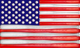 Baseball US Flag Stock Image