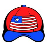 Baseball in the USA flag colors icon cartoon Royalty Free Stock Photos