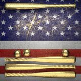 Baseball and USA wall background Royalty Free Stock Image