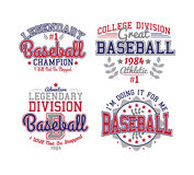 Baseball Varsity Set Royalty Free Stock Images