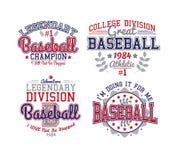 Baseball Varsity Set Royalty Free Stock Images