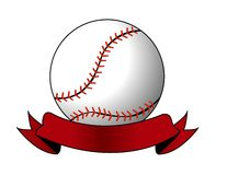 Baseball vector. On white background Stock Photos
