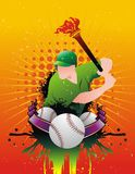 Baseball vector composition Stock Image