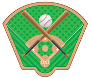 Baseball vector illustration Royalty Free Stock Photos