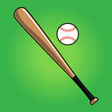 Baseball. A vector illustration of a baseball with stitches Stock Image