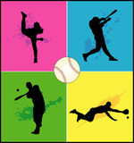 Baseball vector shapes royalty free illustration