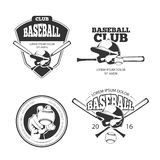 Baseball vector vintage emblems, labels, badges, logos set Royalty Free Stock Photography