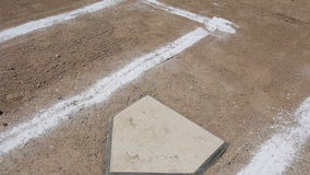 Baseball Vertical Pan Home Plate Baselines stock video footage