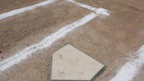 Baseball Vertical Pan Home Plate Baselines stock video footage