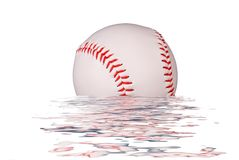 Baseball in water Royalty Free Stock Photography