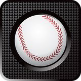 Baseball web button. Web button icon of a baseball Stock Photos
