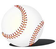Baseball on the white background - vector Stock Image