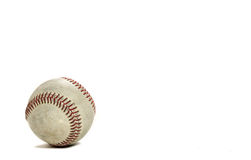 Baseball on White with copyspace Royalty Free Stock Image
