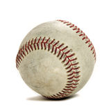 Baseball on White with copyspace Stock Images