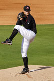 Baseball Wind Up and the Pitch. A shot of pitcher and highly touted prospect Terry Doyle of Kannapolis Inimidators, Single A affiliate of the Chicago White Sox Stock Photography
