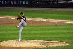 Baseball - the windup. Oakland A's  pitcher Mike Wuertz delivers a pitch Stock Images
