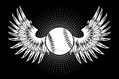 Baseball with wings Royalty Free Stock Images