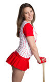 Baseball Woman Royalty Free Stock Photography