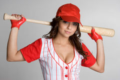 Baseball Woman Royalty Free Stock Photos