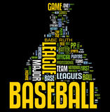 Baseball word cloud Royalty Free Stock Photos
