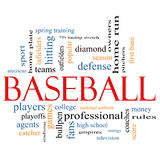 Baseball Word Cloud Concept Royalty Free Stock Image