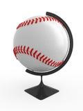 Baseball is world. Baseball ball - terrestrial globe. Isolated Stock Images