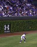 Baseball - Wrigley fälts historiska väggar för murgröna arkivfoto