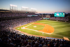 Baseball at Wrigley Field Stock Photography