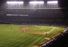Baseball - Wrigley Field at Night Royalty Free Stock Images