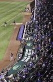 Baseball - Wrigley's Field Fans, Bullpen Stock Photos