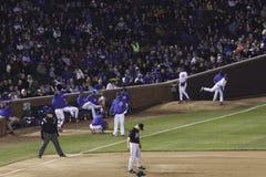 Baseball - Wrigley's Field Fans, Cubs Bullpen Stock Photography